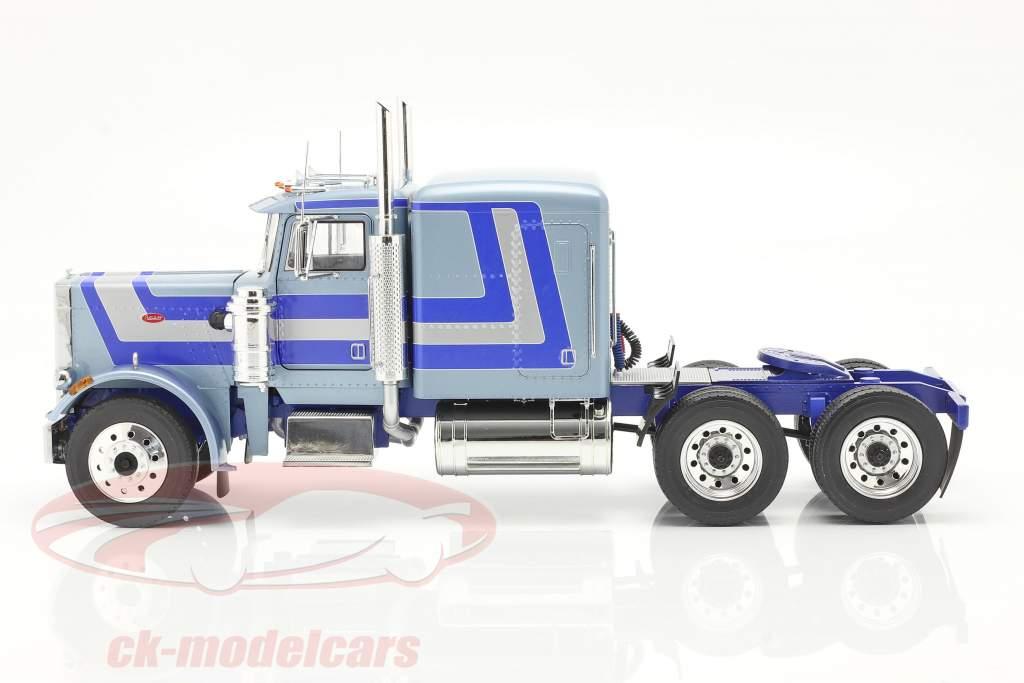 Peterbilt 359 Bull Nose Caminhão 1967 Azul claro metálico 1:18 Road Kings