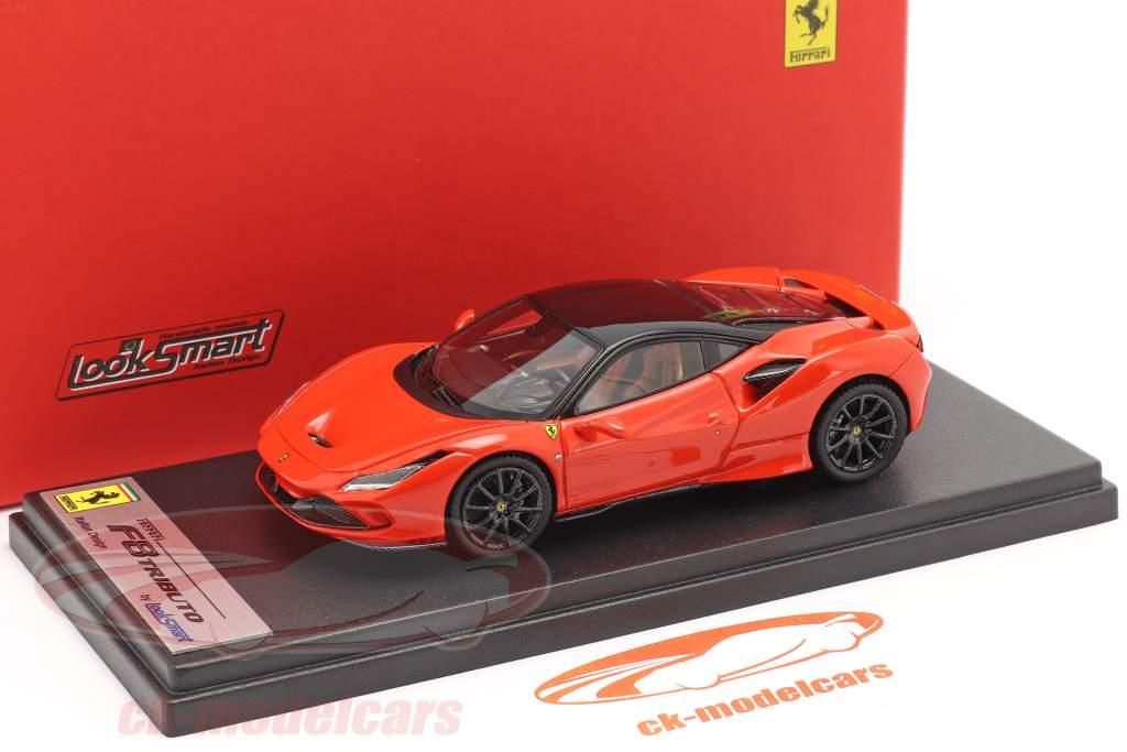 Ferrari F8 Tributo Año de construcción 2019 dino rojo / negro 1:43 LookSmart