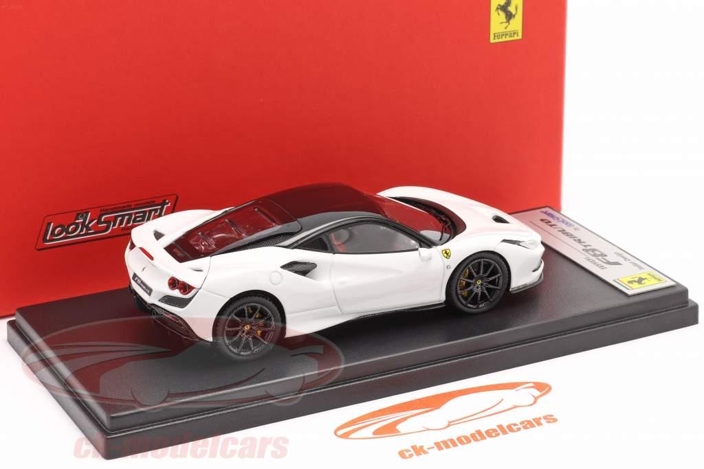 Ferrari F8 Tributo Année de construction 2019 cervino blanc / noir 1:43 LookSmart