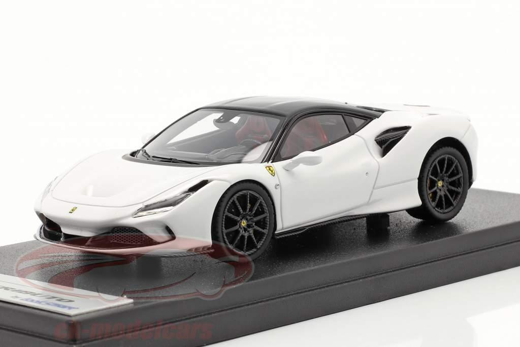 Ferrari F8 Tributo Byggeår 2019 cervino hvid / sort 1:43 LookSmart