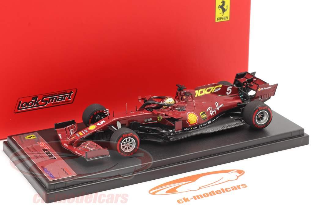 S. Vettel Ferrari SF1000 #5 1000 GP Ferrari Toscana GP F1 2020 1:43 LookSmart