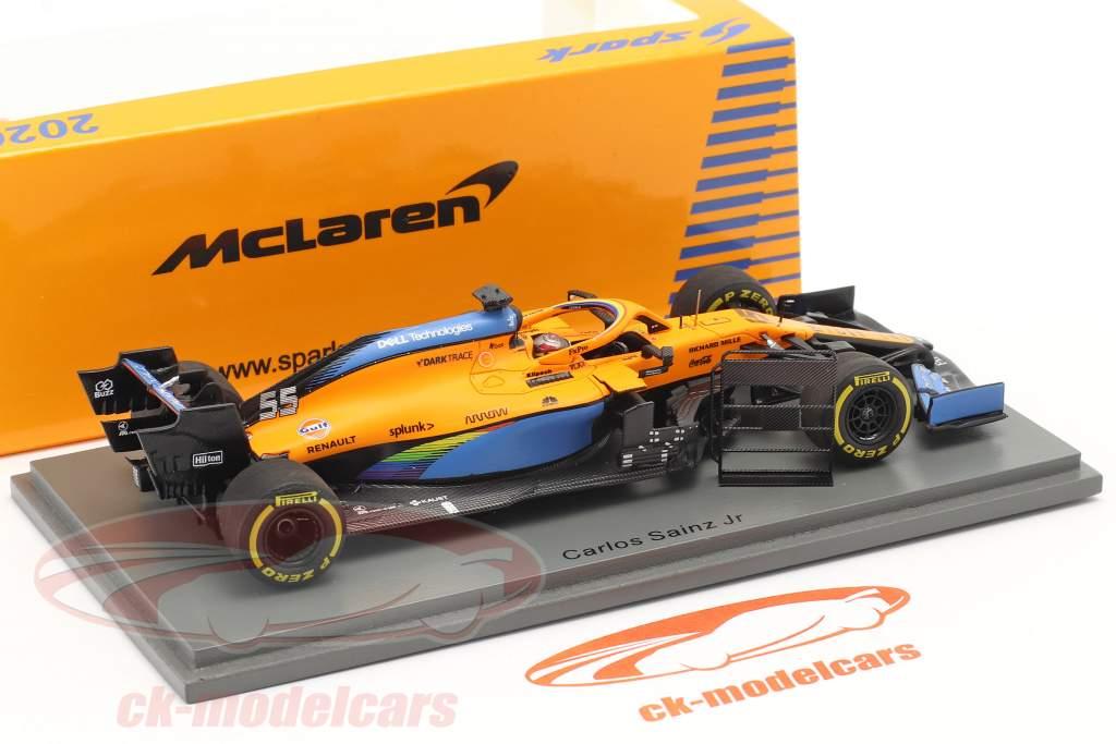 Carlos Sainz McLaren MCL35 #55 2. plads Italiensk GP formel 1 2020 1:43 Spark