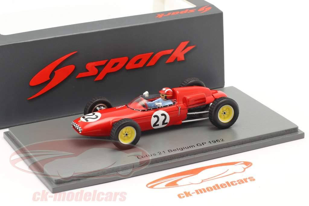 Jo Siffert Lotus 21 #22 Belge GP formule 1 1961 1:43 Spark