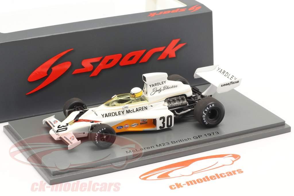 Jody Scheckter McLaren M23 #30 británico GP fórmula 1 1973 1:43 Spark