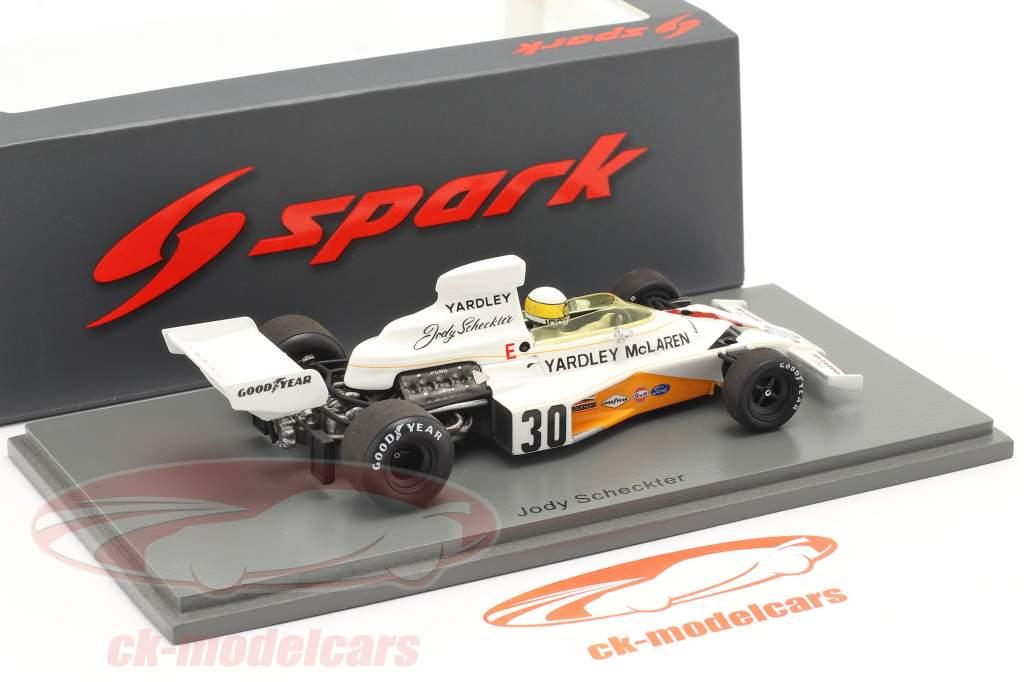Jody Scheckter McLaren M23 #30 Britisk GP formel 1 1973 1:43 Spark
