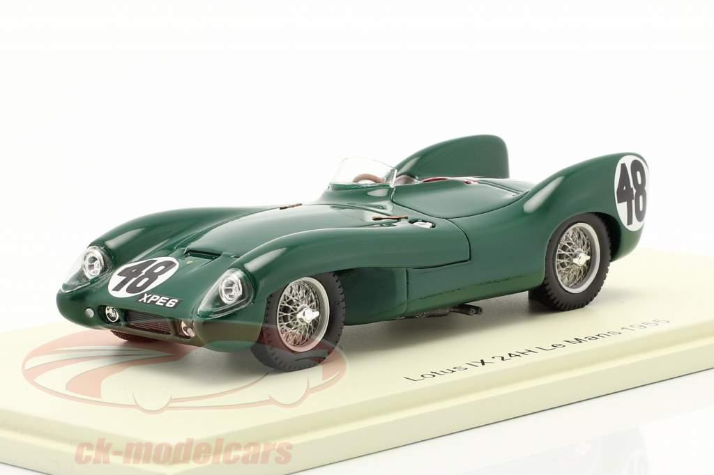 Lotus IX #48 24h LeMans 1955 Chapman, Flockhart 1:43 Spark