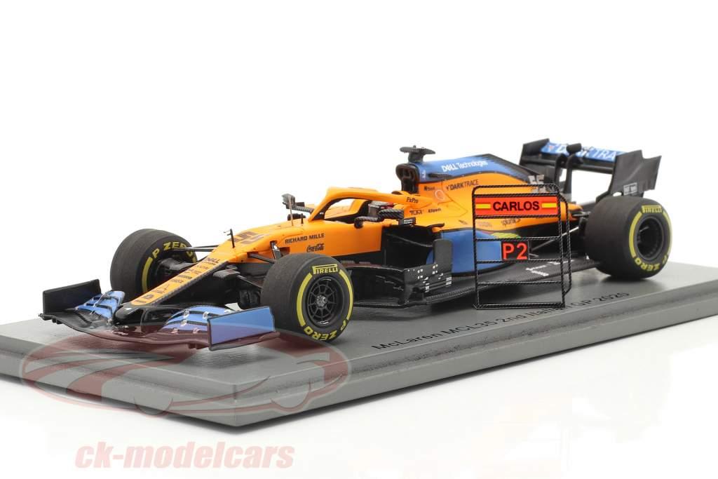 Carlos Sainz McLaren MCL35 #55 2nd Italian GP formula 1 2020 1:43 Spark