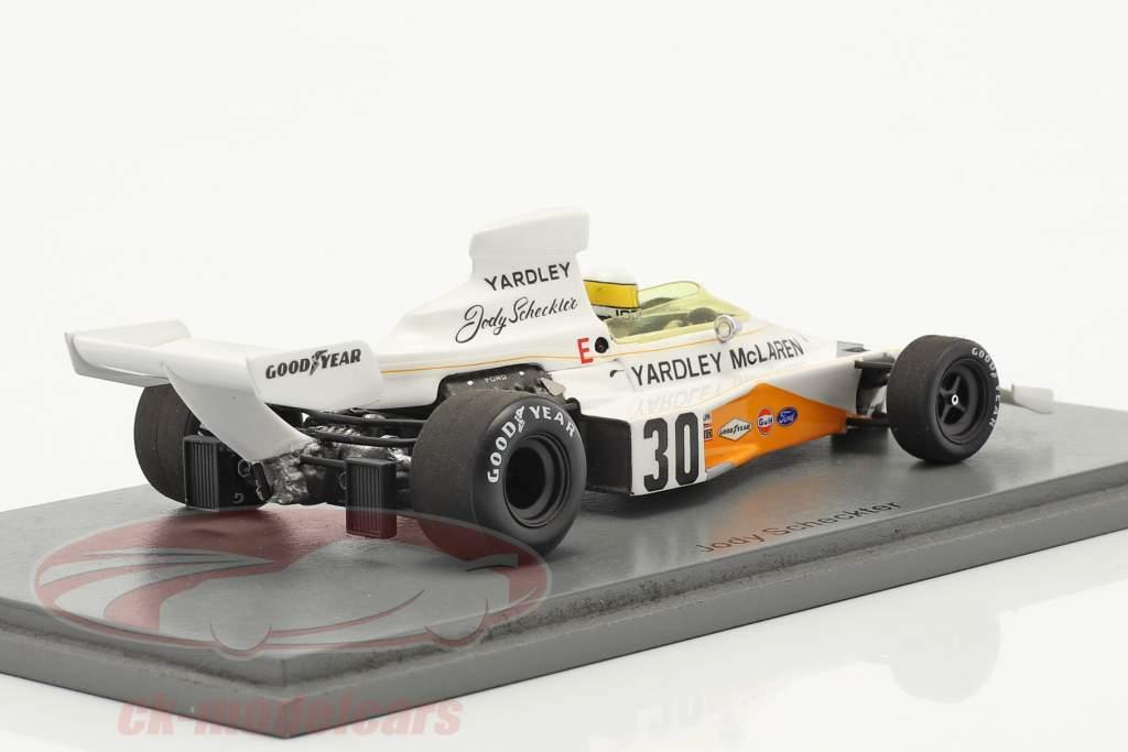 Jody Scheckter McLaren M23 #30 Britannico GP formula 1 1973 1:43 Spark