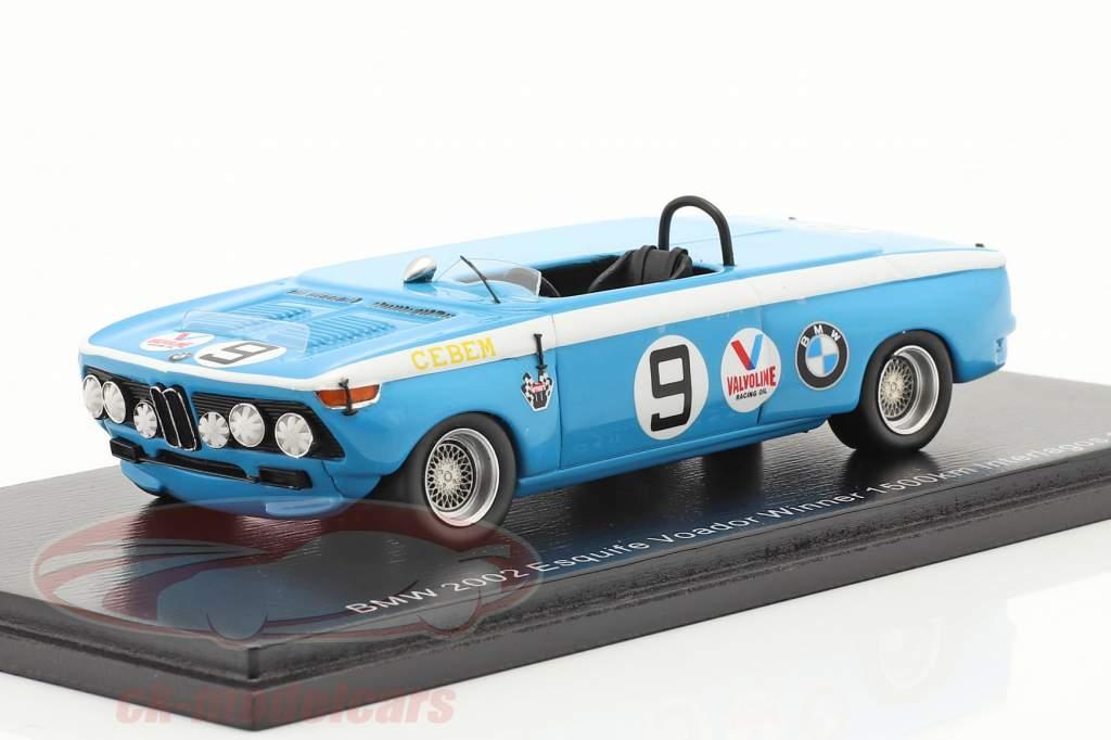 BMW 2002 Escquife Voador #9 Winner 1500km Interlagos 1970 1:43 Spark