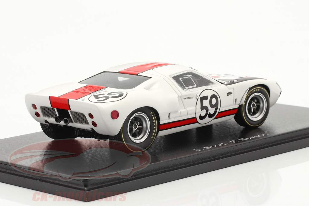 Ford GT40 #59 24h LeMans 1966 Scott, Revson 1:43 Spark