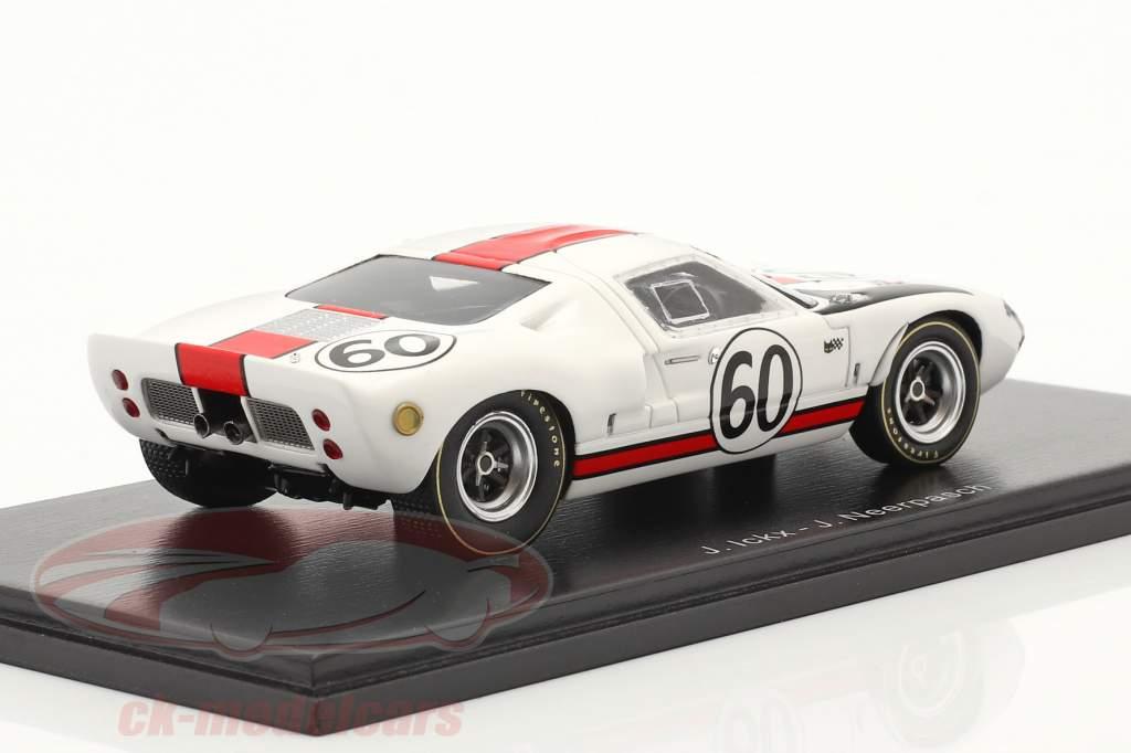 Ford GT40 #60 24h LeMans 1966 Ickx, Neerpasch 1:43 Spark