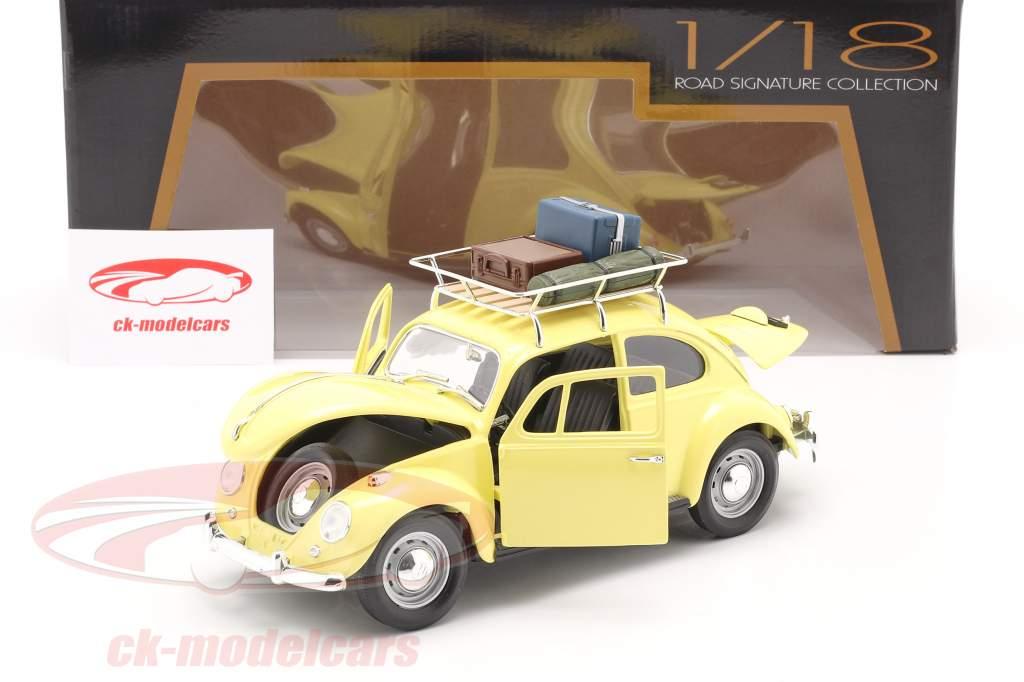 Volkswagen VW Escarabajo Camping Version Año de construcción 1967 amarillo 1:18 Lucky Diecast