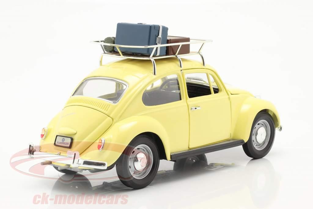 Volkswagen VW Bille Camping Version Byggeår 1967 gul 1:18 Lucky Diecast