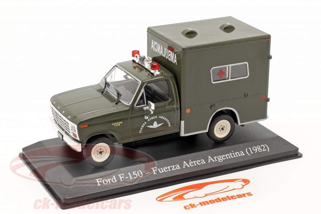 Ford F-150 Militaire ambulance Argentinië Bouwjaar 1982 donkere olijf 1:43 Altaya