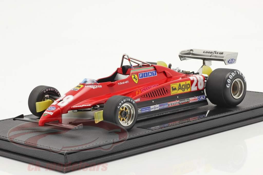 Mario Andretti Ferrari 126C2 #28 3. Italiensk GP formel 1 1982 1:18 GP Replicas
