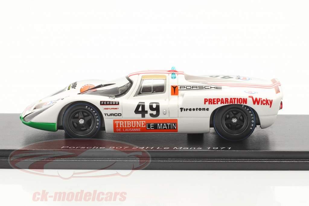 Porsche 907 #49 Winner P2.0 class 24h LeMans 1971 Brun, Mattli 1:43 Spark