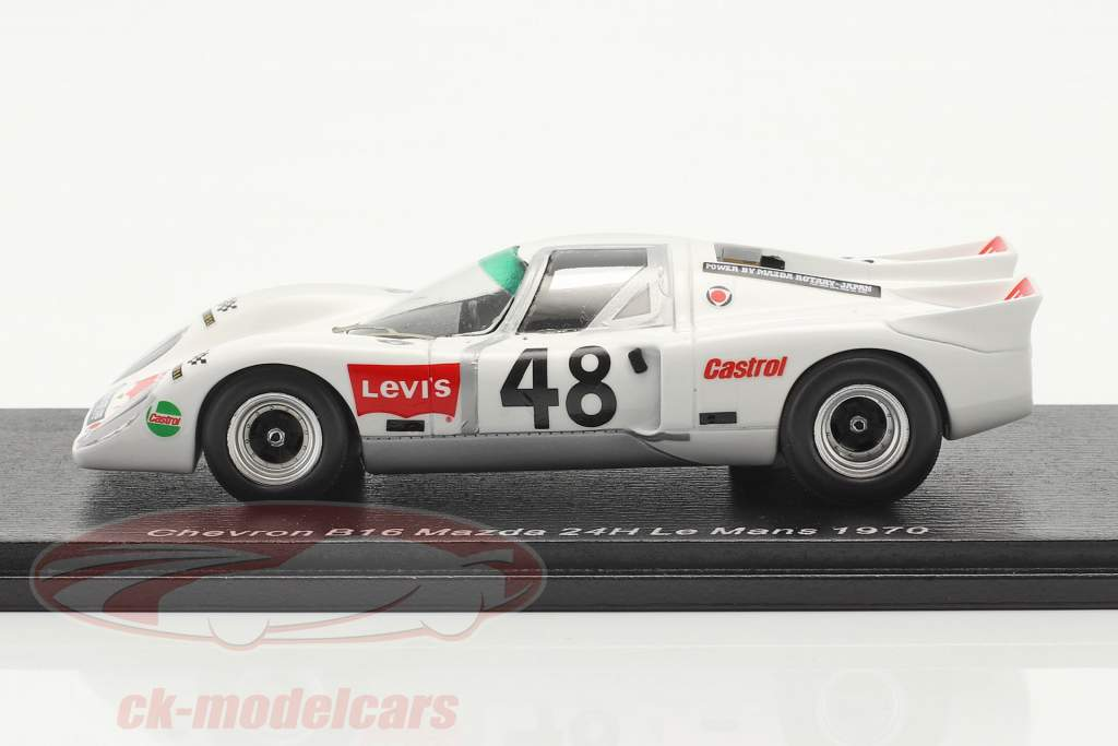 Chevron B16 #48 24h LeMans 1970 Vernaeve, Deprez 1:43 Spark