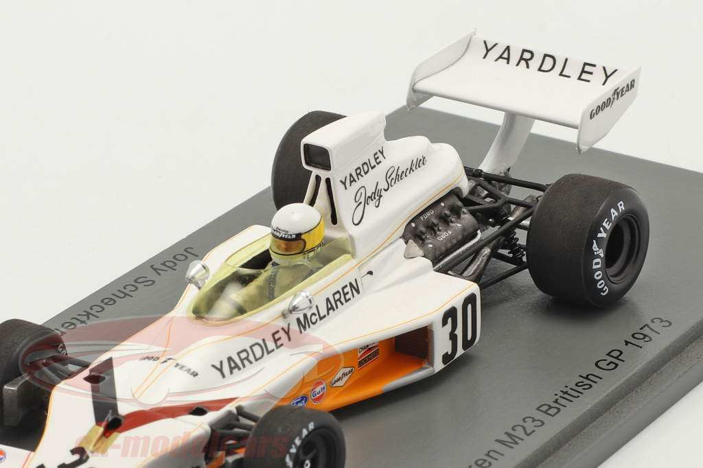 Jody Scheckter McLaren M23 #30 Britanique GP formule 1 1973 1:43 Spark