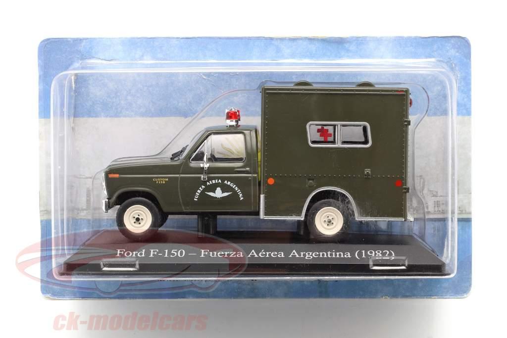 Ford F-150 Ambulância militar Argentina Ano de construção 1982 azeitona escura 1:43 Altaya