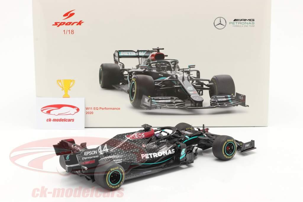L. Hamilton Mercedes-AMG F1 W11 #44 Gagnant Styrien GP F1 Champion du monde 2020 1:18 Spark