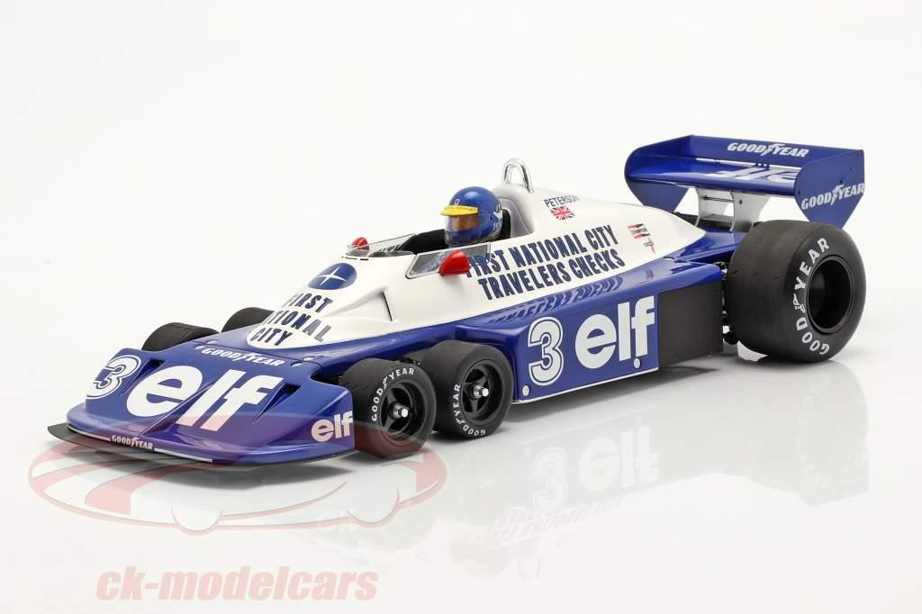 Ronnie Peterson Tyrrell P34 six roues #3 brésilien GP formule 1 1977 1:18 Spark