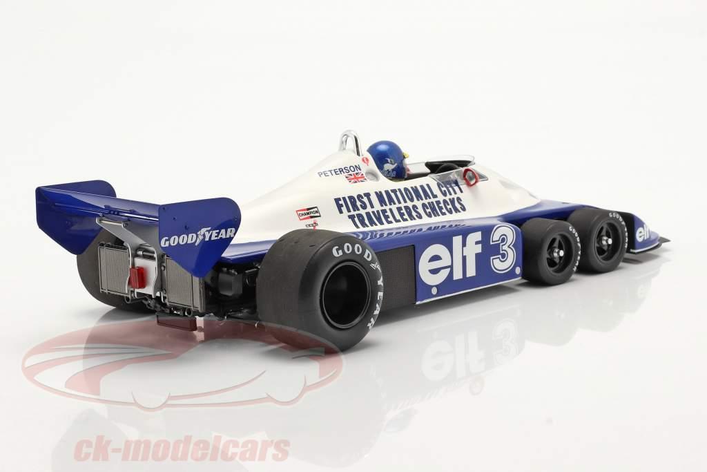 Ronnie Peterson Tyrrell P34 sei ruote #3 brasiliano GP formula 1 1977 1:18 Spark