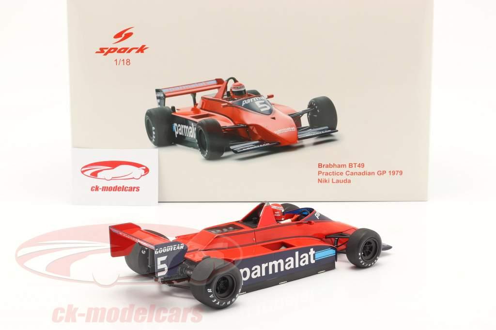 Niki Lauda Brabham BT49 #5 Práctica canadiense GP fórmula 1 1979 1:18 Spark