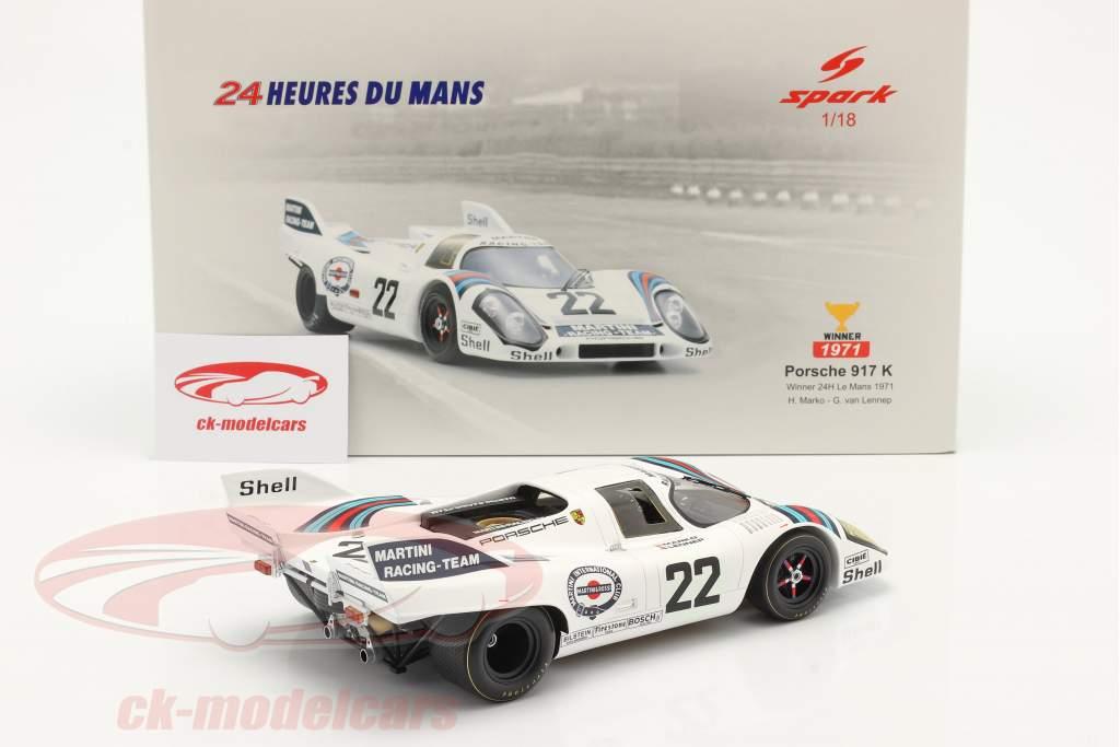 Porsche 917K #22 gagnant 24h LeMans 1971 Marko, van Lennep 1:18 Spark