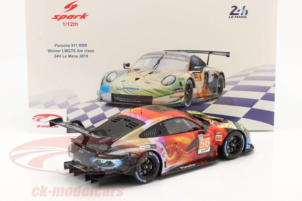 Porsche 911 RSR #56 vencedora LMGTE Am 24h LeMans 2019 Team Project 1 1:12 Spark