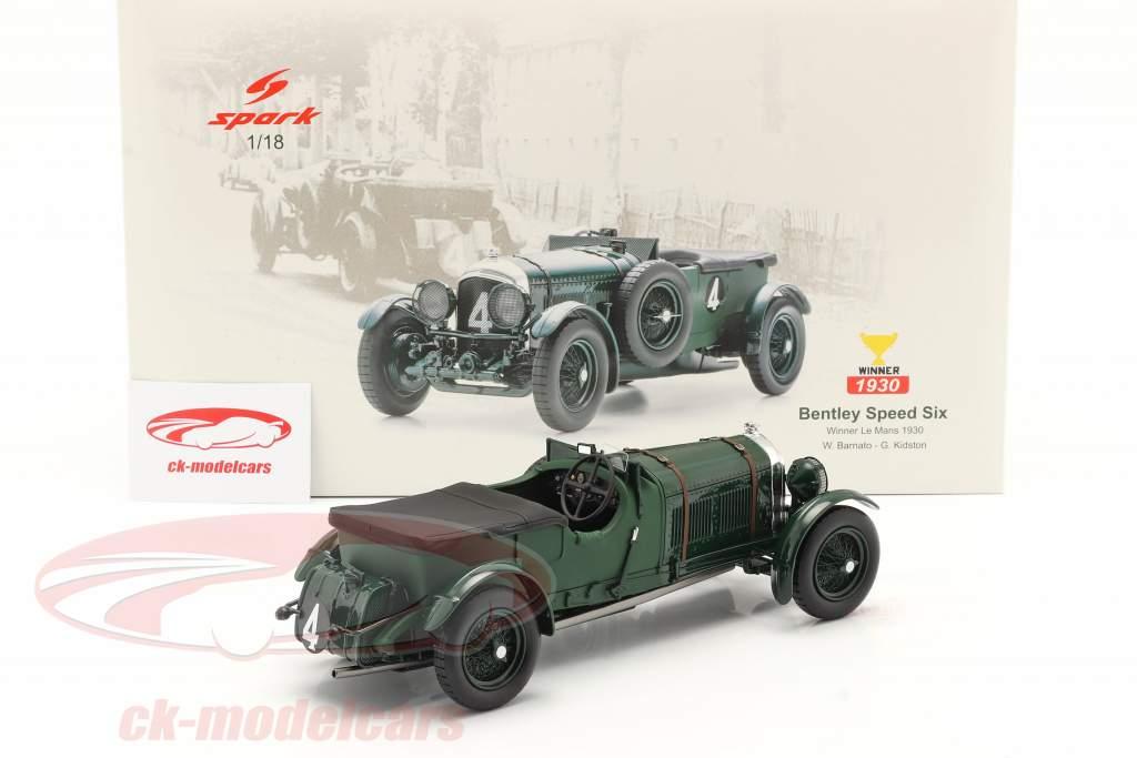 Bentley Speed Six #4 Winner 24h LeMans 1930 Barnato, Kidston 1:18 Spark