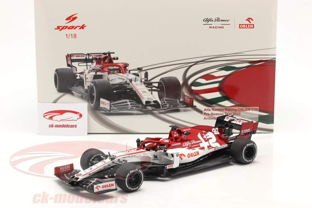A. Giovinazzi Alfa Romeo Racing C39 #99 Test Barcelona formel 1 2020 1:18 Spark