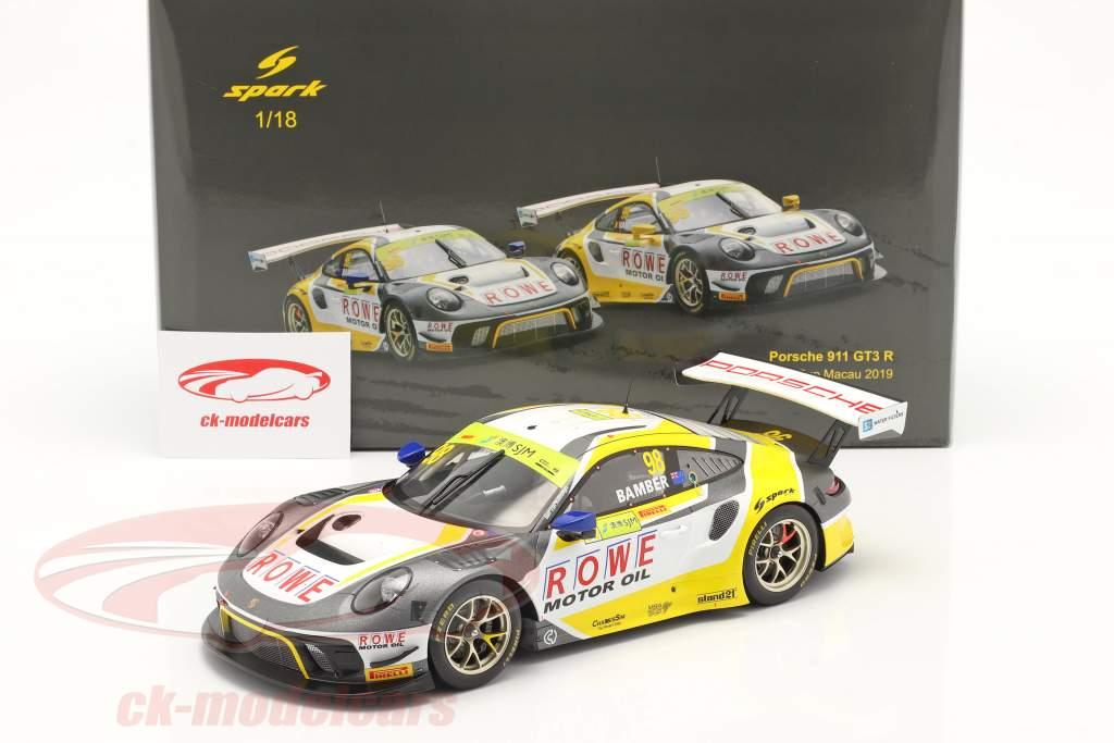 Porsche 911 GTE R #98 3rd FIA GT World Cup Macau 2019 E. Bamber 1:18 Spark