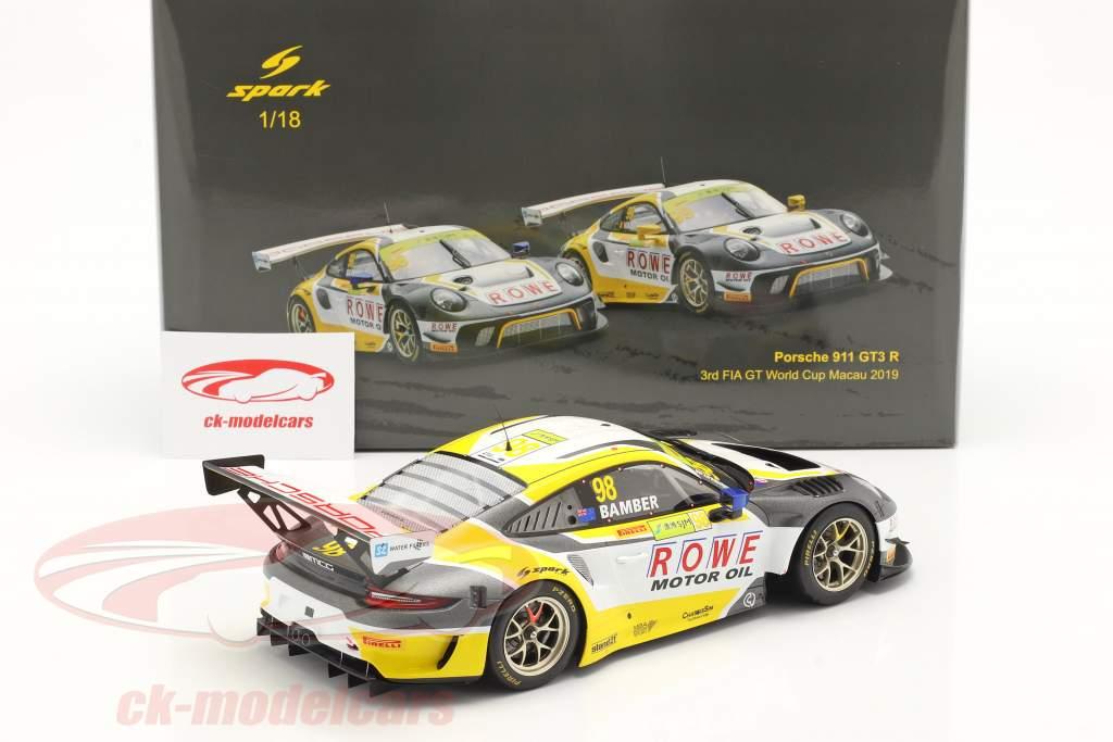 Porsche 911 GTE R #98 3. FIA GT World Cup Macau 2019 E. Bamber 1:18 Spark