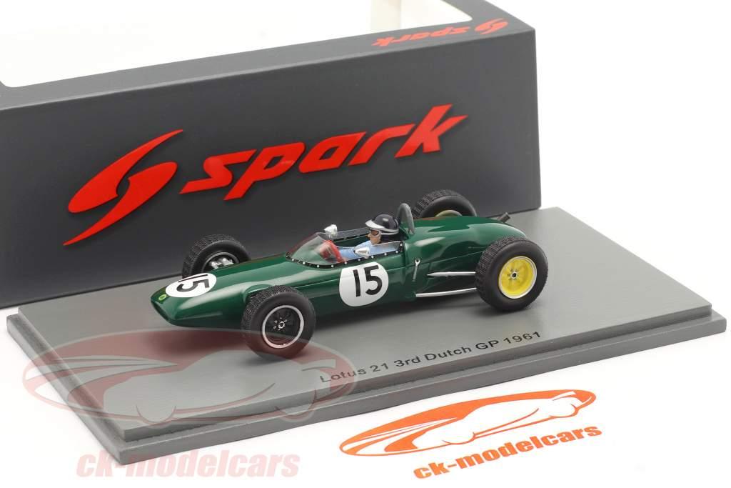 Jim Clark Lotus 21 #15 Tercero holandés GP fórmula 1 1961 1:43 Spark