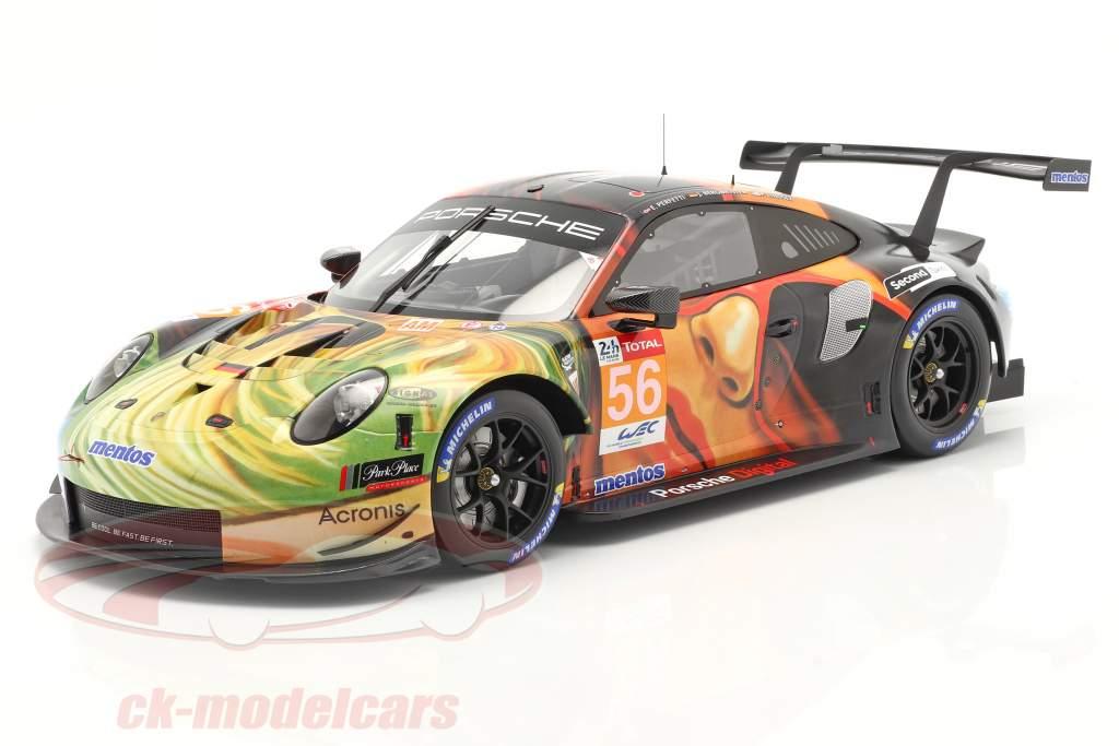 Porsche 911 RSR #56 ganador LMGTE Am 24h LeMans 2019 Team Project 1 1:12 Spark