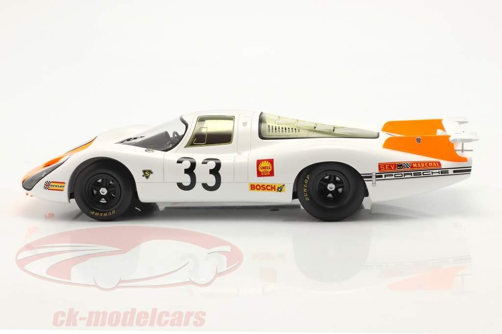Porsche 908 Coupe #33 3e 24h LeMans 1968 Stommelen, Neerpasch 1:18 Spark