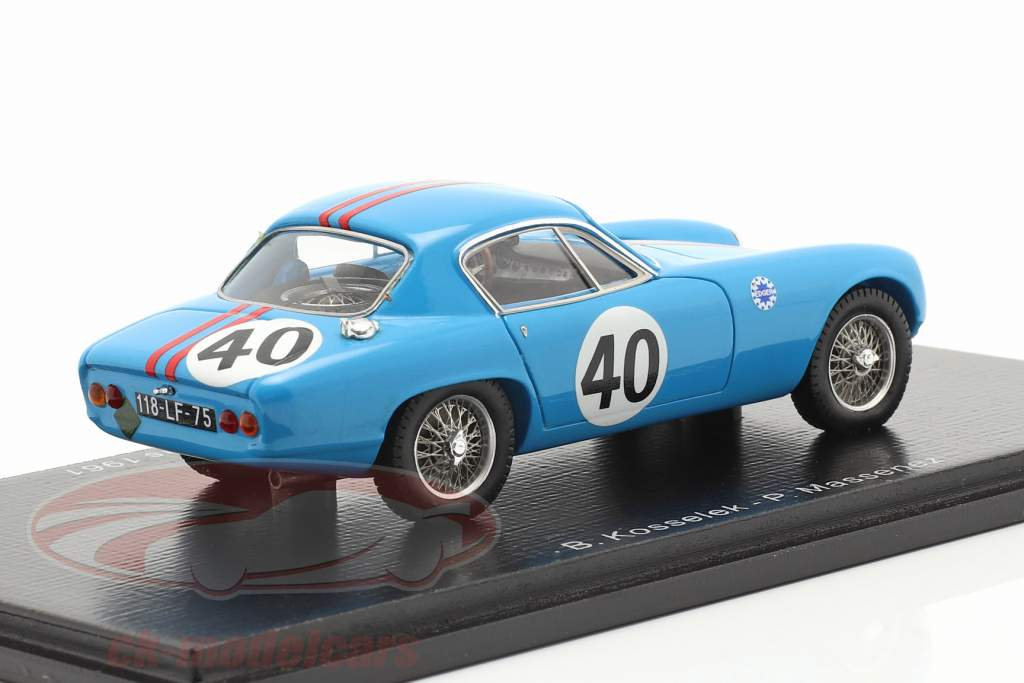 Lotus Elite Mk14 #40 24h LeMans 1961 Kosselek, Messenez 1:43 Spark