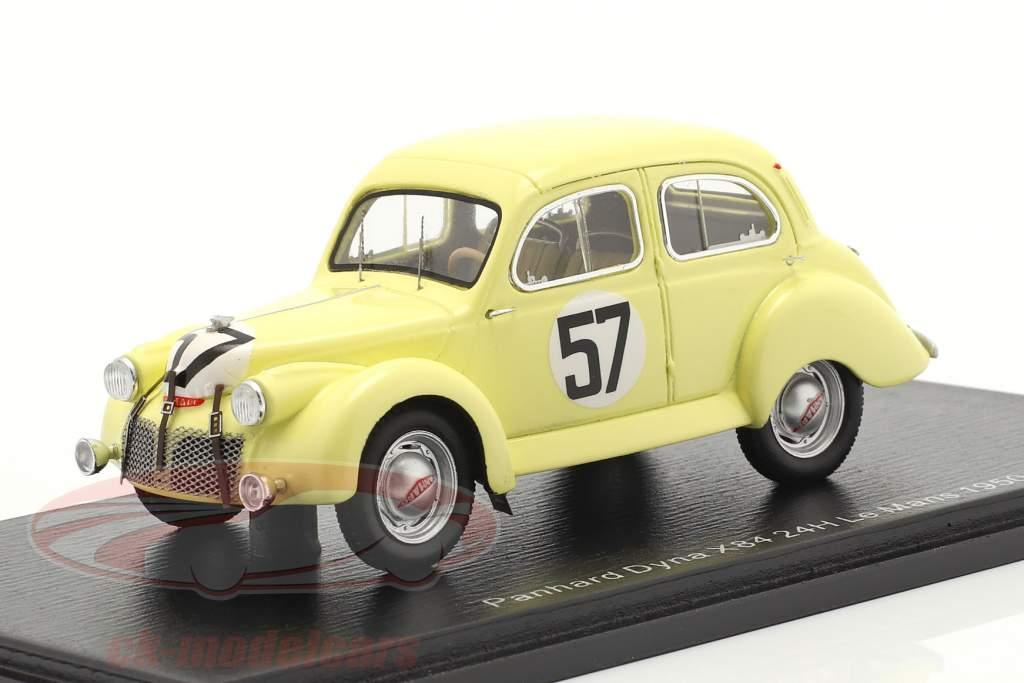 Panhard Dyna X84 #57 24h LeMans 1950 Eggen, Escale 1:43 Spark