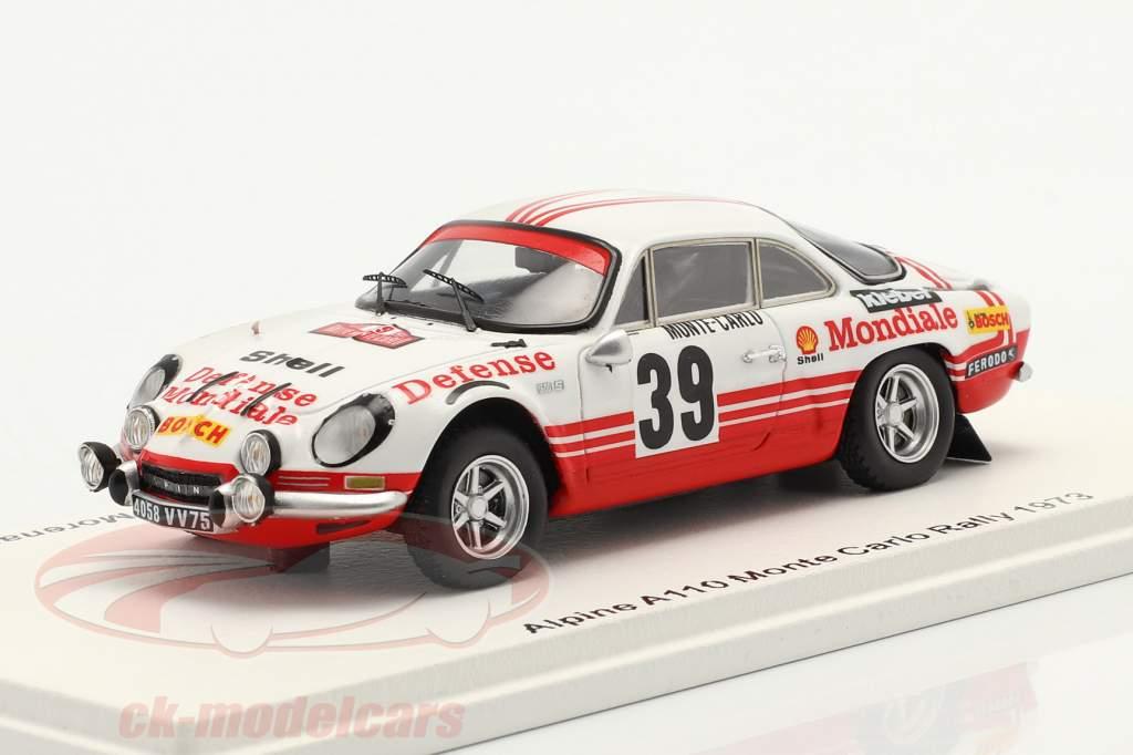 Alpine A110 #39 Rallye Monte Carlo 1973 Ballot-Lena, Morenas 1:43 Spark