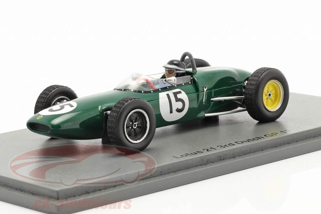 Jim Clark Lotus 21 #15 3e néerlandais GP formule 1 1961 1:43 Spark