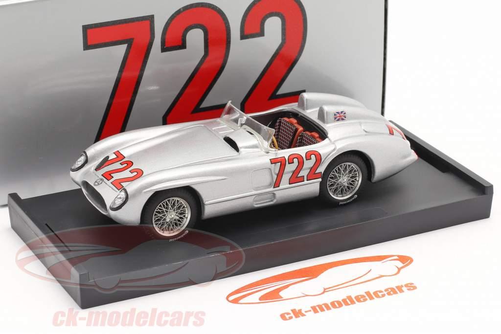 Mercedes-Benz 300 SLR #722 vinder Mille Miglia 1955 Moss, Jenkinson 1:43 Brumm