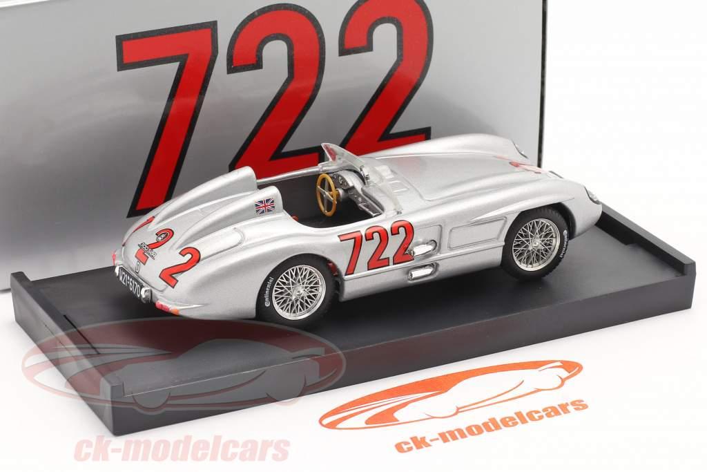 Mercedes-Benz 300 SLR #722 ganador Mille Miglia 1955 Moss, Jenkinson 1:43 Brumm
