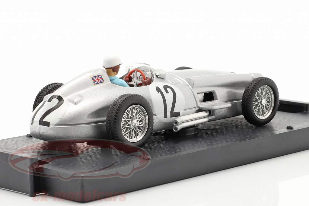 Stirling Moss Mercedes-Benz W196 #12 Winnaar Brits GP formule 1 1955 1:43 Brumm