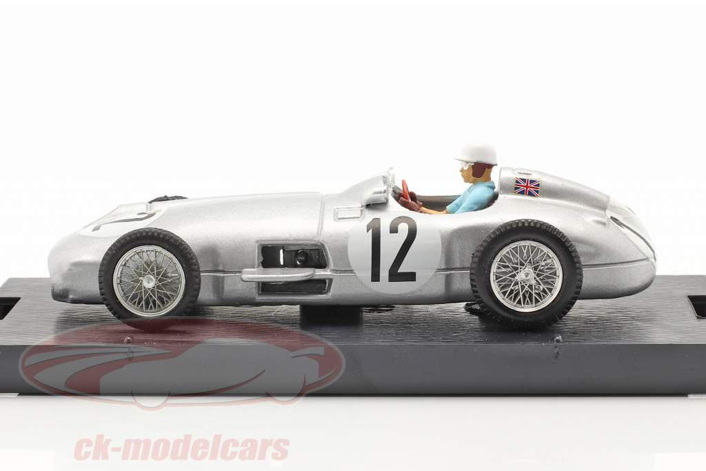 Stirling Moss Mercedes-Benz W196 #12 Gagnant Britanique GP formule 1 1955 1:43 Brumm