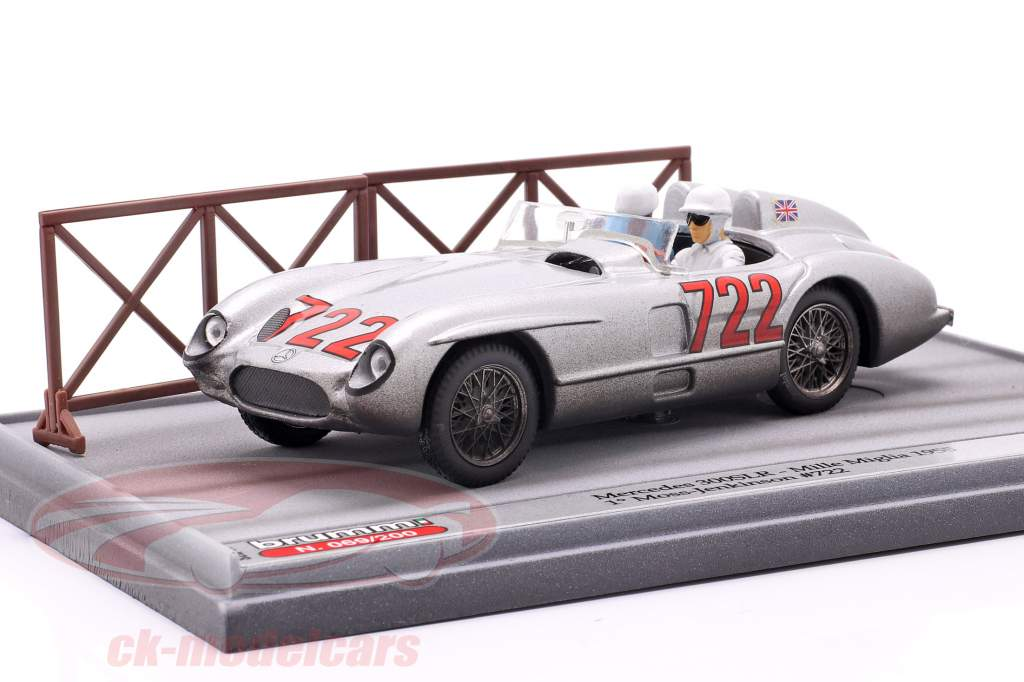 Mercedes-Benz 300 SLR #722 gagnant Mille Miglia 1955 Moss, Jenkinson 1:43 Brumm