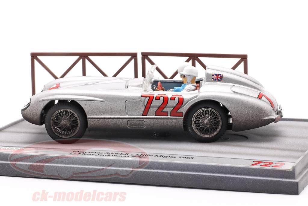 Mercedes-Benz 300 SLR #722 winnaar Mille Miglia 1955 Moss, Jenkinson 1:43 Brumm