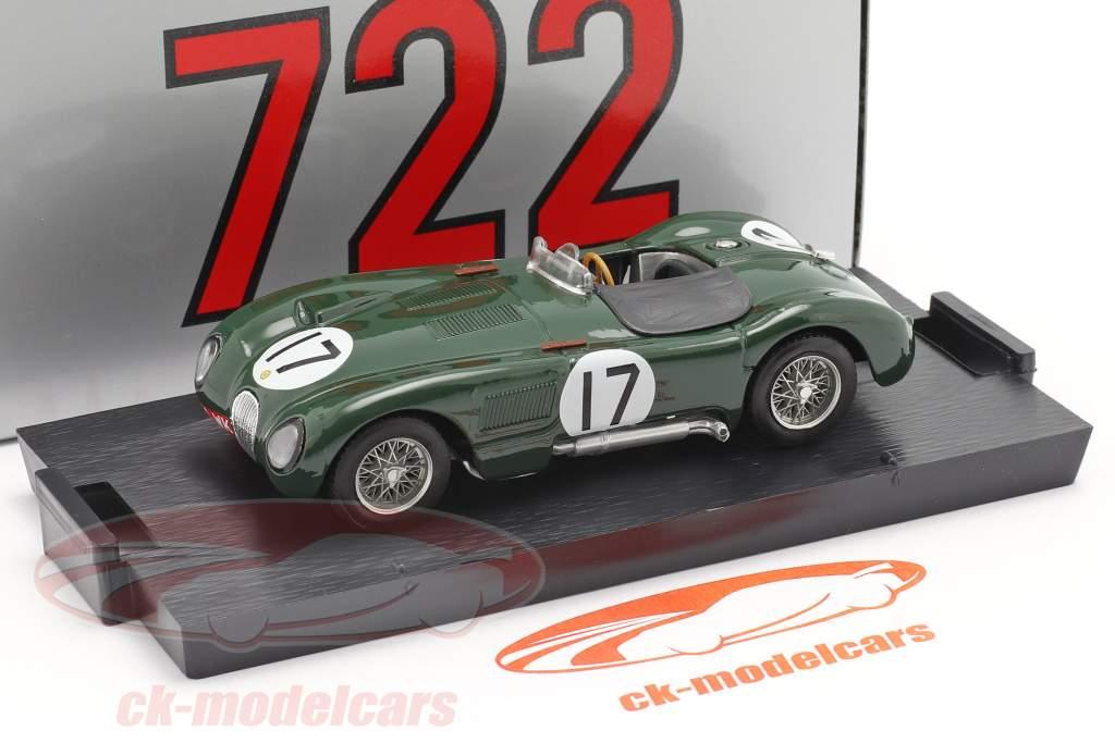 Jaguar C-Type #17 2. plads 24h LeMans 1953 Moss, Walker 1:43 Brumm