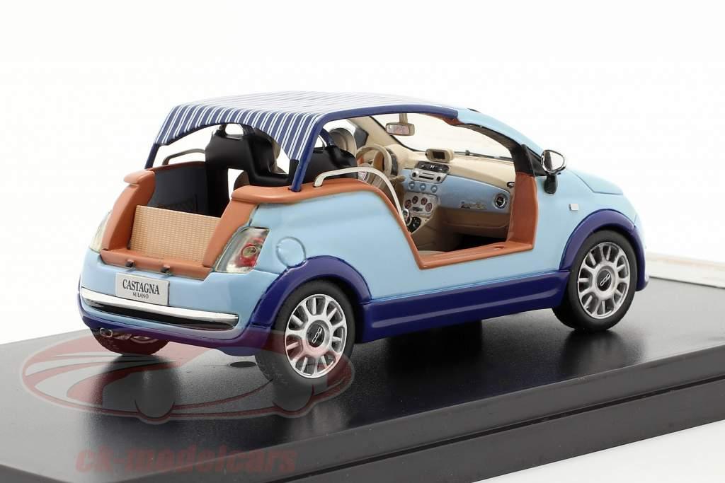 Fiat 500 Tender Two Castagna Milano Year 2008 light blue 1:43 Premium X