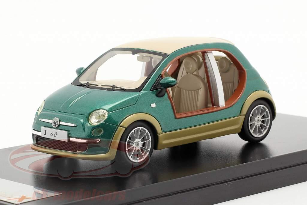 Fiat 500 Castagna EV Kadhafi År 2009 grøn 1:43 Premium X