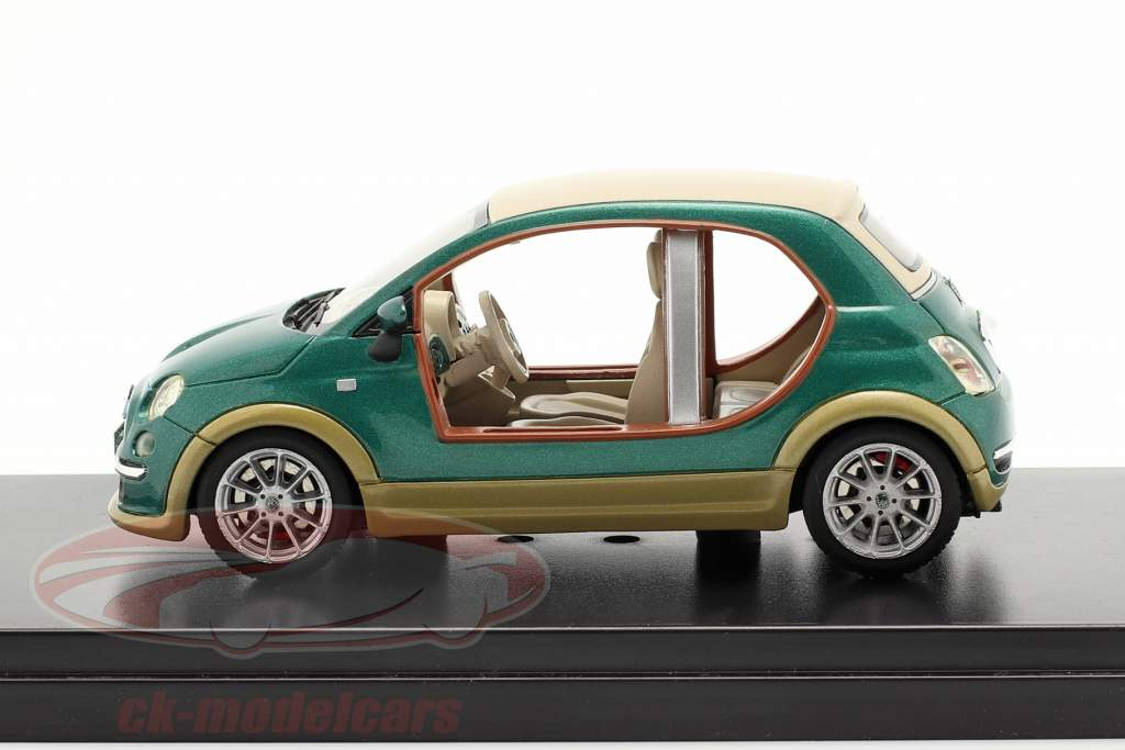 Fiat 500 Castagna EV Kadhafi Ano 2009 verde 1:43 Premium X